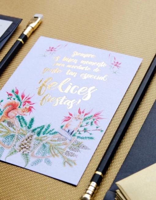 Postal-navidena-dorados-christmas---Detalle