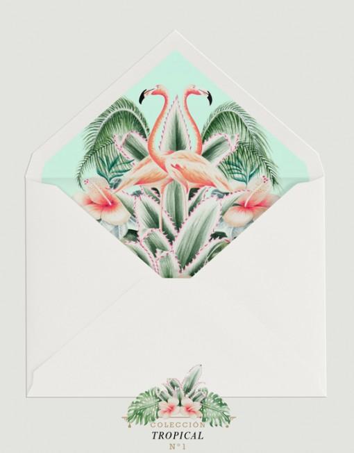 SOBRE-BLANCO-FORRO-PELICANOS-GRANDES-invitacion-tropical