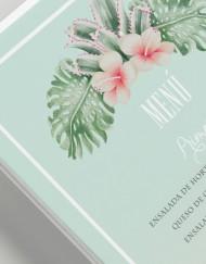 Invitaciones originales boda tropical - Menus de boda