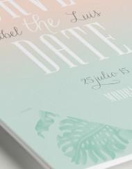 Invitaciones originales boda tropical - Save the date