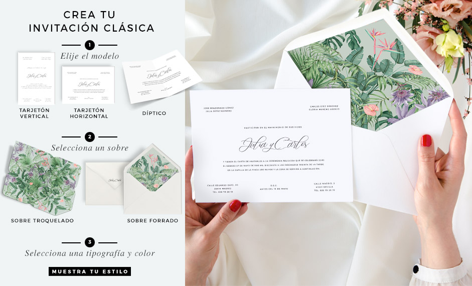 Invitaciones de boda clasica imprenta Madrid Save the date projectsHOME-destacado-invitaciones-clasicas