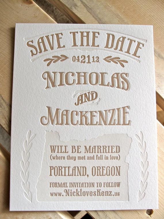 Papelería de boda - Save the date