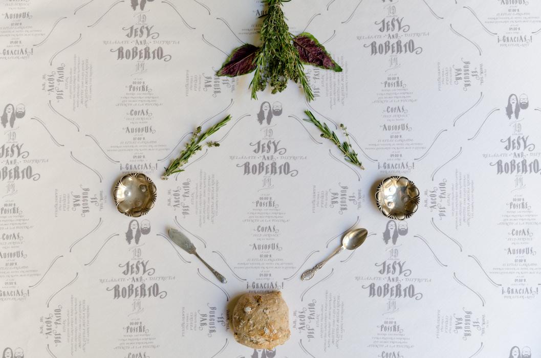 La decoración de mesa de tu boda empieza por el menú