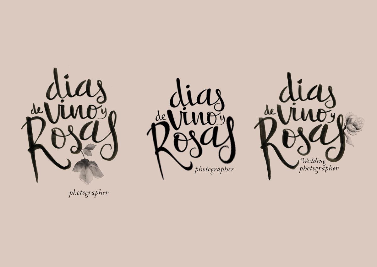 Opciones Logo para dias de vino y rosas