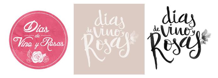Pasos de rebranding de dónde partimos y hasta dónde llegamos en el diseño gráfico del nuevo logo de Días de vino y rosas