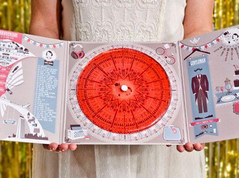 Invitaciones de boda personalizadas Save the date projects disco