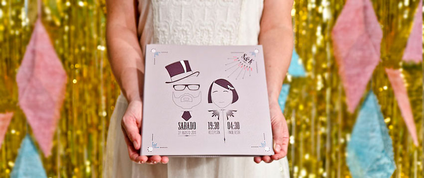 Invitaciones de boda personalizadas Save the date projects extrerior