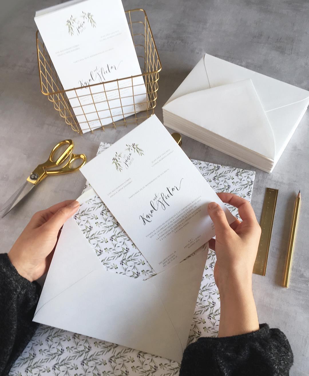 Invitaciones de boda Olivos