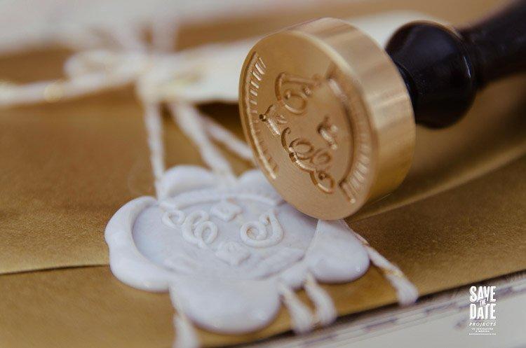 Sello lacre personalizado boda