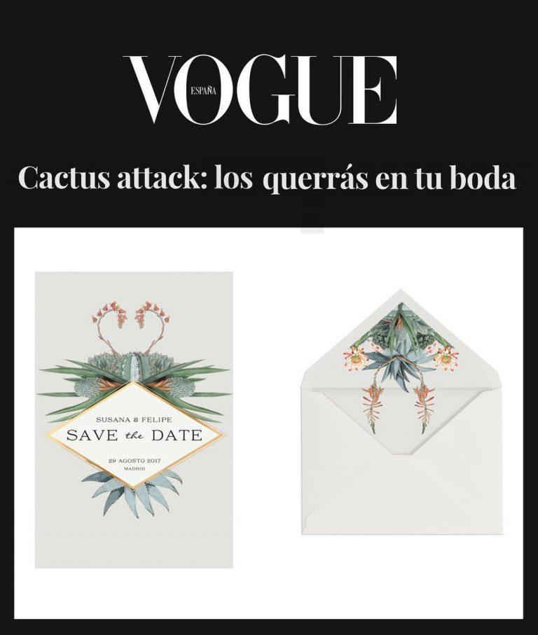 Invitaciones de boda recomendadas por Vogue