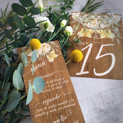 Invitaciones de boda campestre en Madrid
