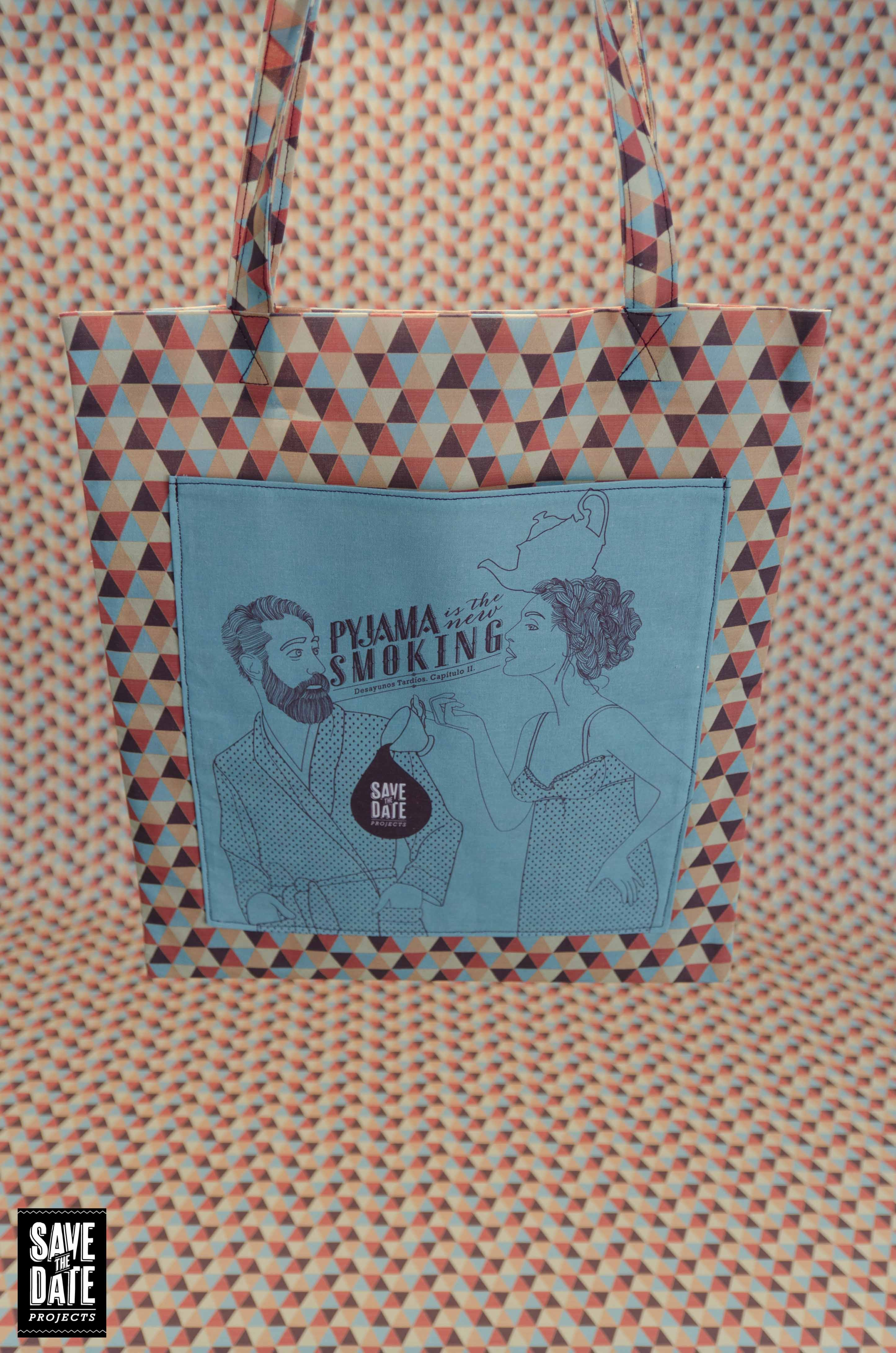 Save the date projects - Creación de bolsa de algodón hecha a mano - Tote bag