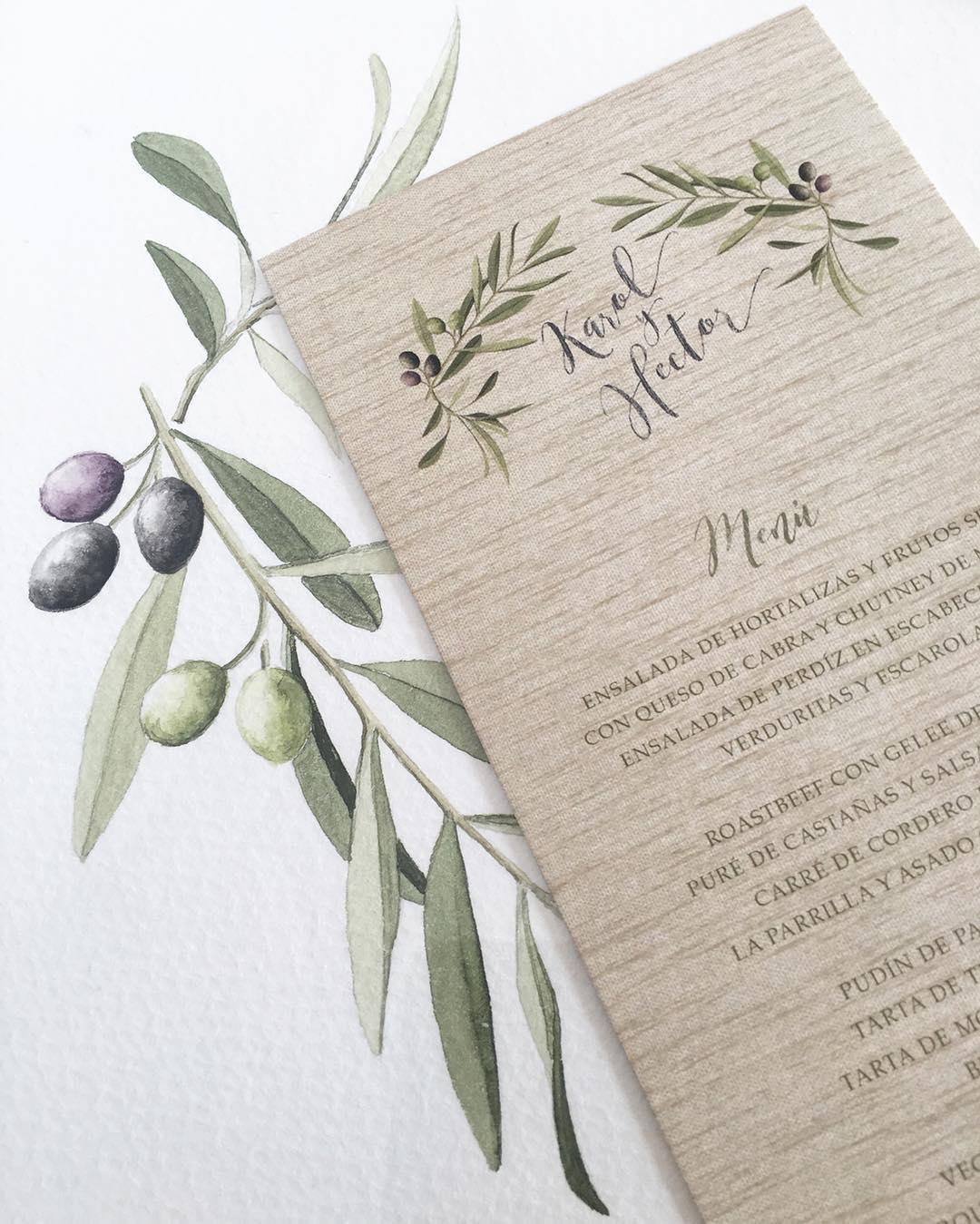 Invitaciones de boda en Madrid con Olivos