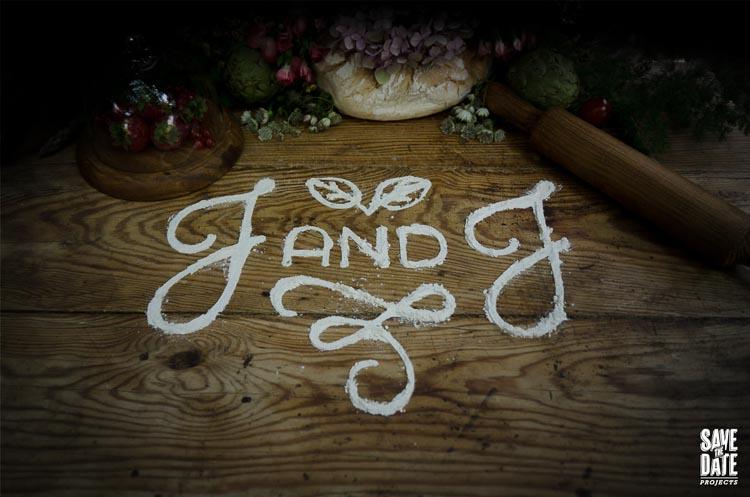 Invitaciones de boda con ilustraciones en acuarela