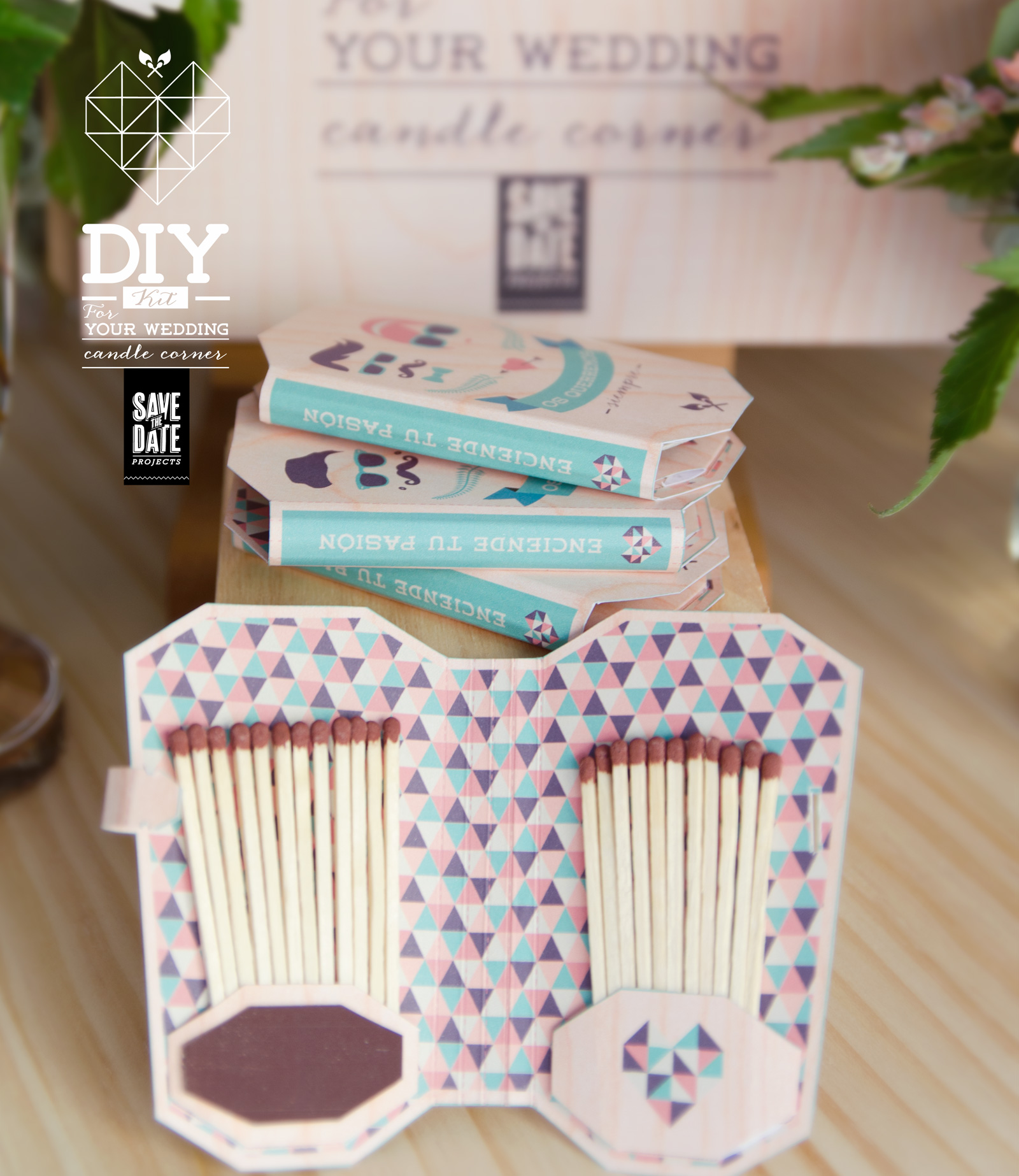 Pack diy hipster save the date projects tienda online - Diy para bodas ...