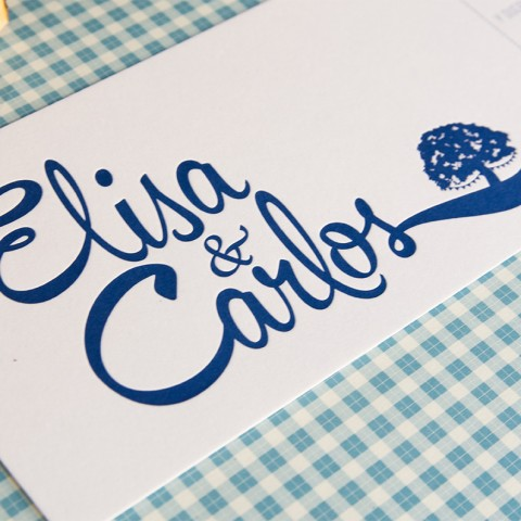 Invitaciones de boda letterpress