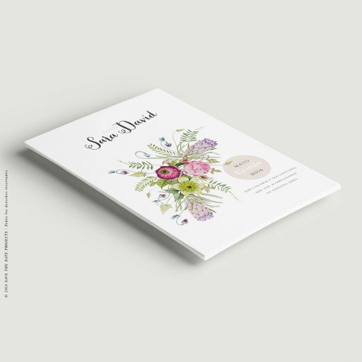 Boda Invitacion de boda campestre con flores
