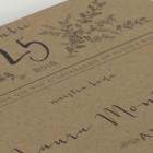 Invitaciones de boda originales en papel kraft