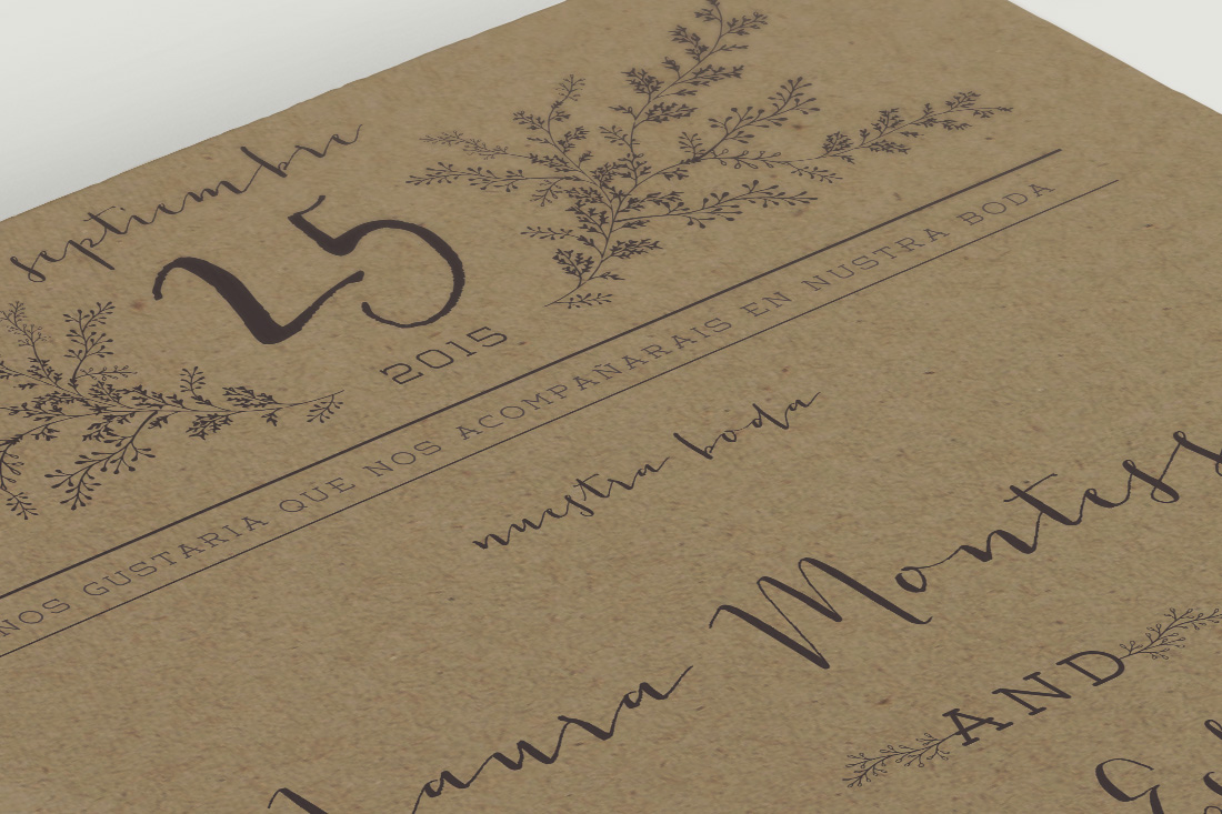 a97fcd3be Invitaciones de boda kraft para tu boda campestre