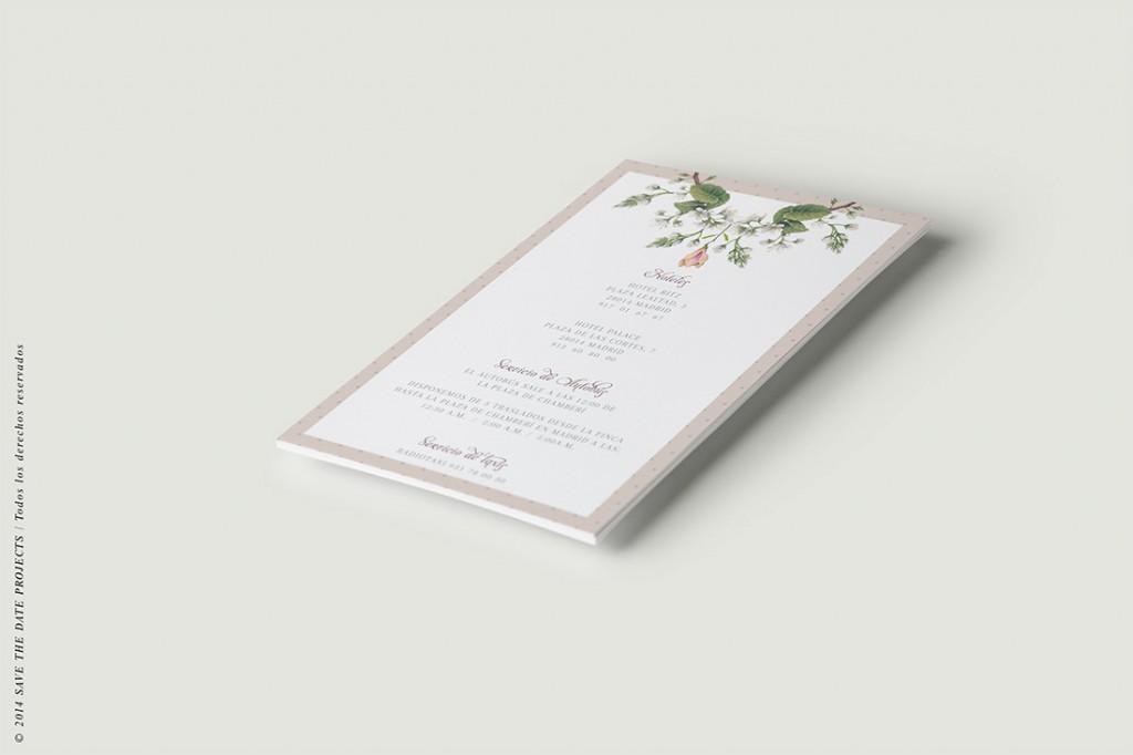 Mapa de boda clasica con flores ANV