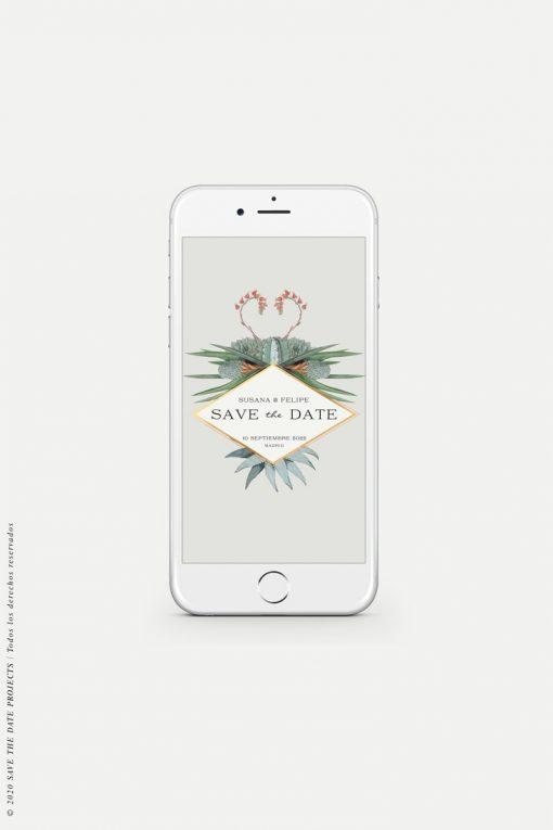 save the date cactus digital