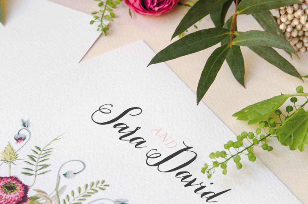 papel para invitaciones de boda detalle