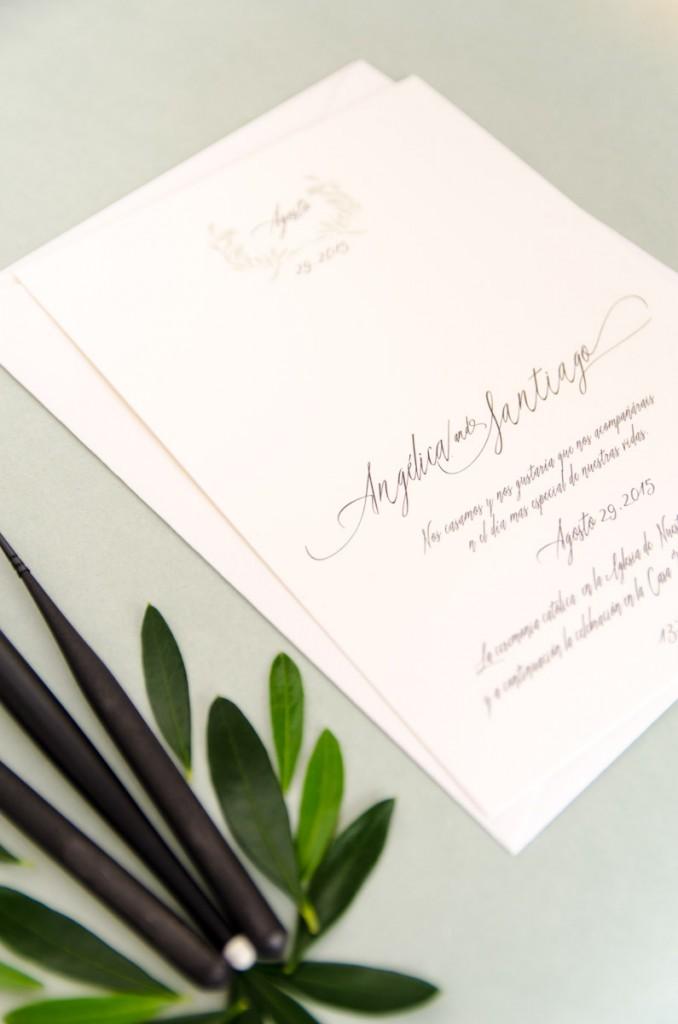 Invitaciones de boda originales - con caligrafía