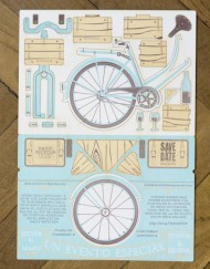 Letterpress lasercut - Bike mounting invitation - Save the date projects (1)