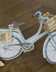 Letterpress lasercut - Bike mounting invitation - Save the date projects (5)