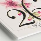Números de mesa para una boda romántica