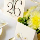 Números de mesa para Invitaciones de boda románticas-5346
