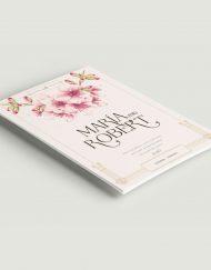 invitaciones de boda vintage gatsby cerezos en flor