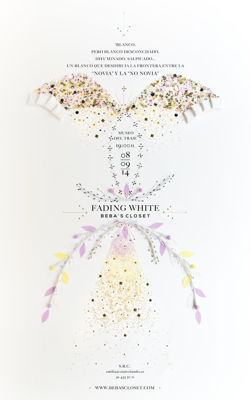 Diseño de poster personalizado vestido de novias