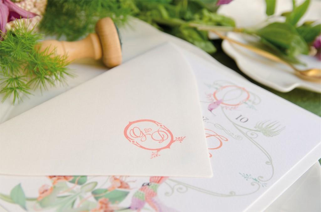 Sellos de caucho para invitaciones de boda con acuarela