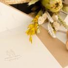 Sellos de caucho para invitaciones de boda campestre