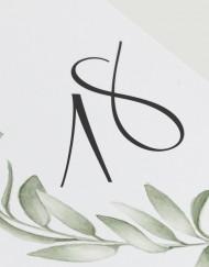 Menu de boda acuarela olivo - detlle