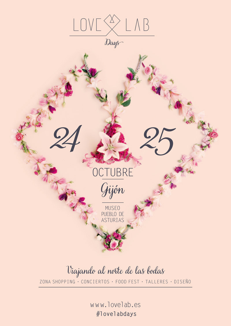 Diseño de Poster con flores por Save the date projects