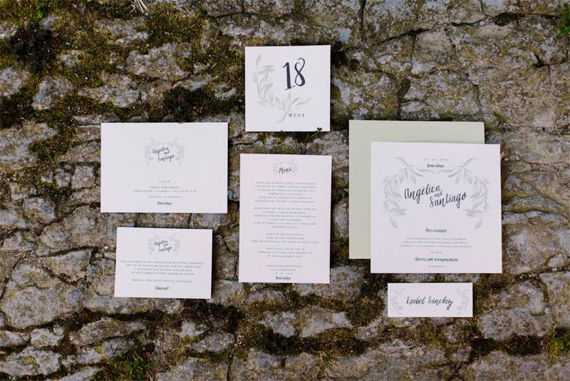Papeleria de boda acuarela olivos photos by Levi Tejerina