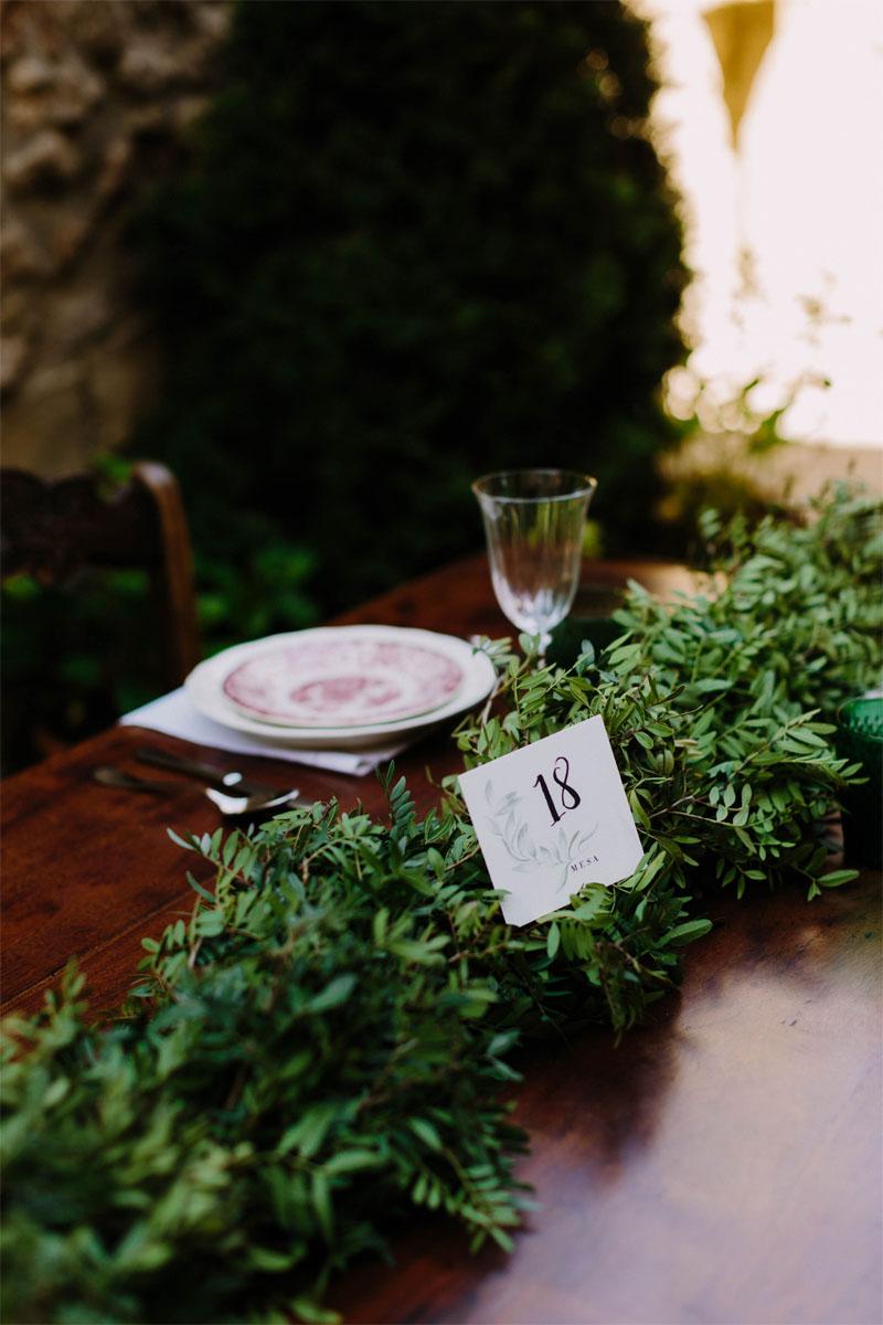 Números de mesa acuarela olivos -cuadrados- photos by Levi Tejerina