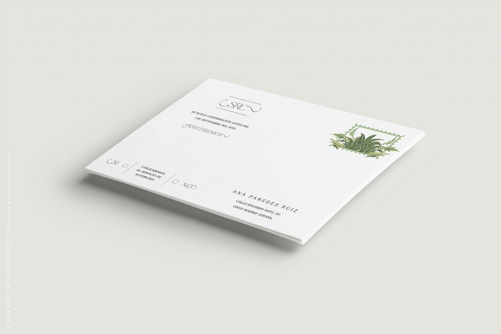 Invitaciones-de-boda-helechos-Confirmacion-Postal-Trasera