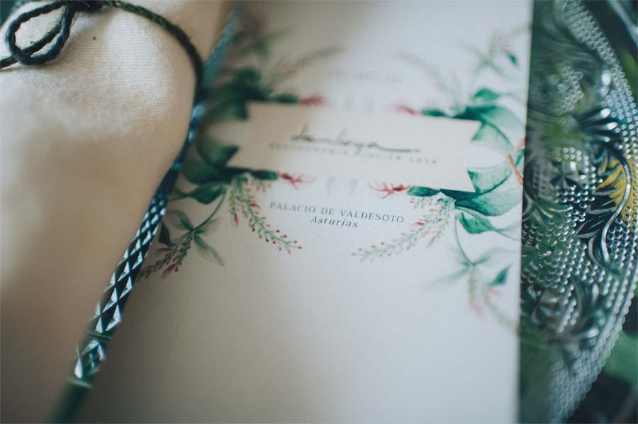 Papelería de boda personalizada minutas detalle