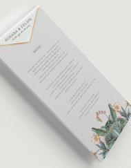 Invitaciones originales cactus - Menu de boda