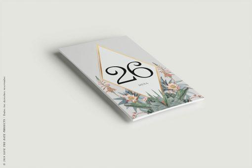 Invitaciones originales cactus - Números de mesa - Meseros
