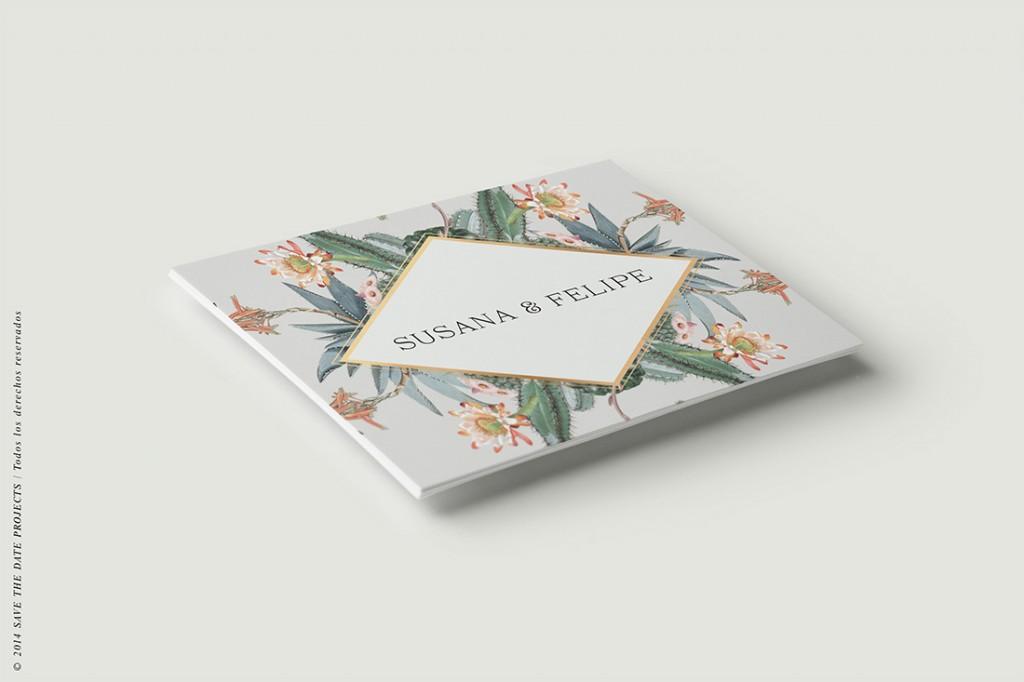 Invitaciones originales cactus - Tarjeta confirmación