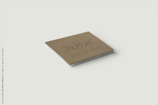 Tarjeta de confirmación en papel kraft - Anverso