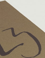 Numeros de mesa - Meseros boda en papel kraft - Detalle