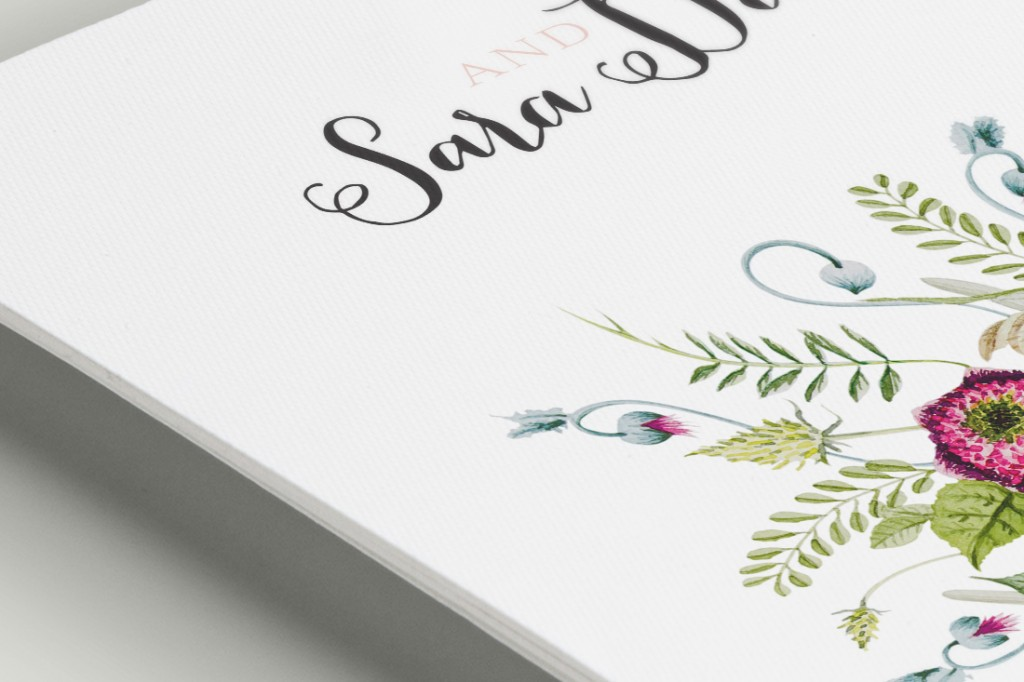 Invitaciones de boda campestre - detalle