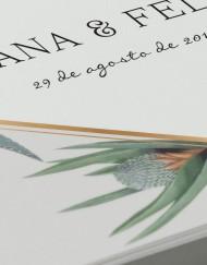 Invitaciones originales cactus - detalle