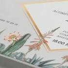 Invitaciones originales cactus - detalle trasera