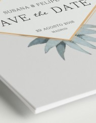 Save the date invitaciones de boda cactus - DETALLE